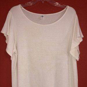 Old Navy Women's XL Cream Colored Top